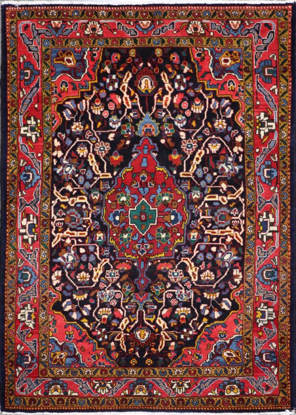 """4'10""""x6'10"""" Traditional Red Tribal Wool Hand-Knotted Rug - Direct Rug Import   Rugs in Chicago, Indiana,South Bend,Granger"""