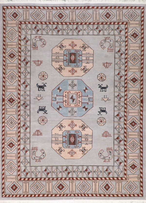 """8'3""""x11'2"""" Transitional Gray Tibetan Wool Hand-Tufted Rug - Direct Rug Import   Rugs in Chicago, Indiana,South Bend,Granger"""