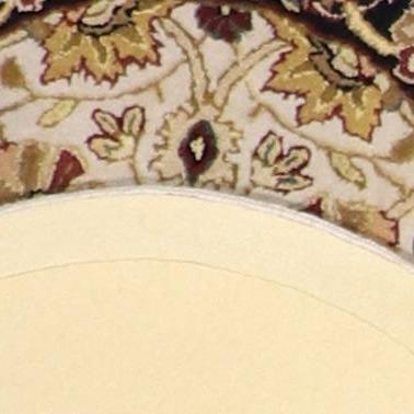 """2'10""""x2'10"""" Decorative Ivory Round Wool Rug - Direct Rug Import 