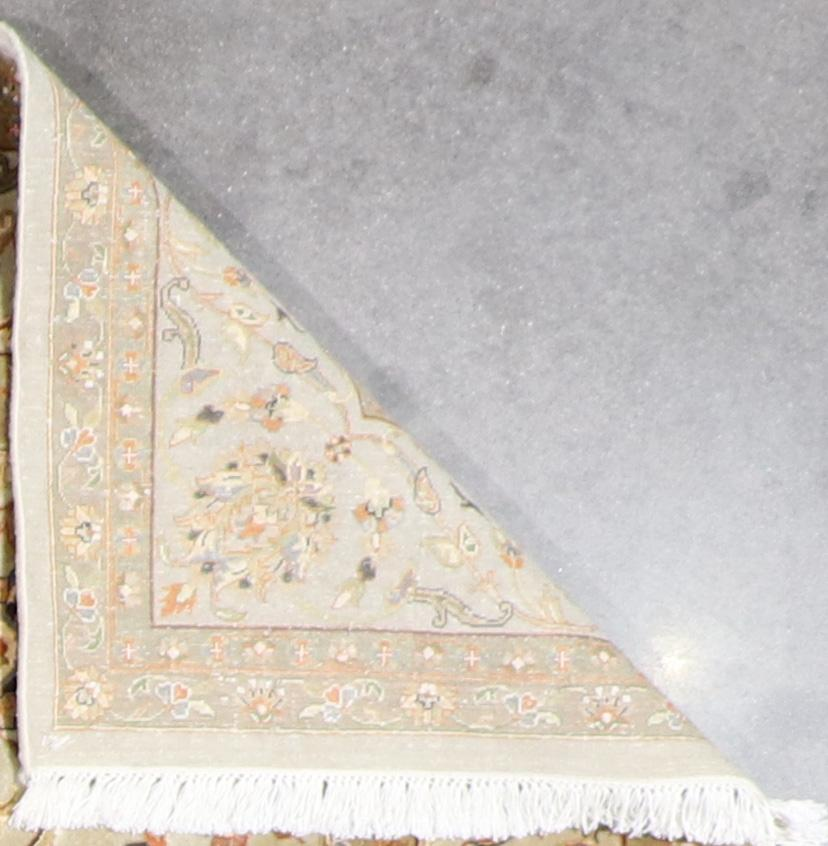 """5'8""""x7'11"""" Traditional Tan Wool & Silk Hand-Knotted Rug - Direct Rug Import 